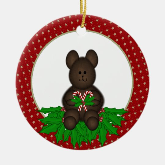 Personalized Christmas Bear Ornament