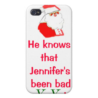 Personalized Christmas Been Bad or Good iPhone 4/4S Cases