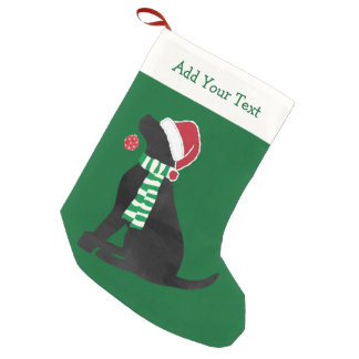 Personalized Christmas Black Lab Holiday Dog Small Christmas Stocking