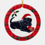 Personalized Christmas Black Lab Puppy Christmas Tree Ornament