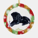 Personalized Christmas Black Labrador Puppy Christmas Tree Ornament