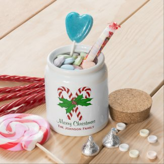 Personalized: Christmas Cane Jar Candy Jars