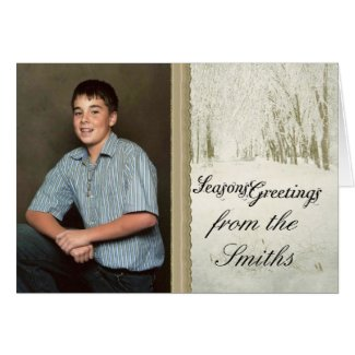 personalized christmas card card