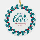 Personalized Christmas Ceramic Ornament