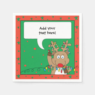 Personalized Christmas Cocktail Napkins at Zazzle