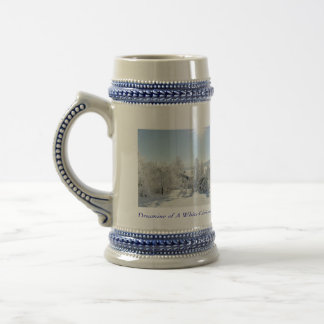 Personalized Christmas Coffee Mugs- Dreaming of a Beer Stein