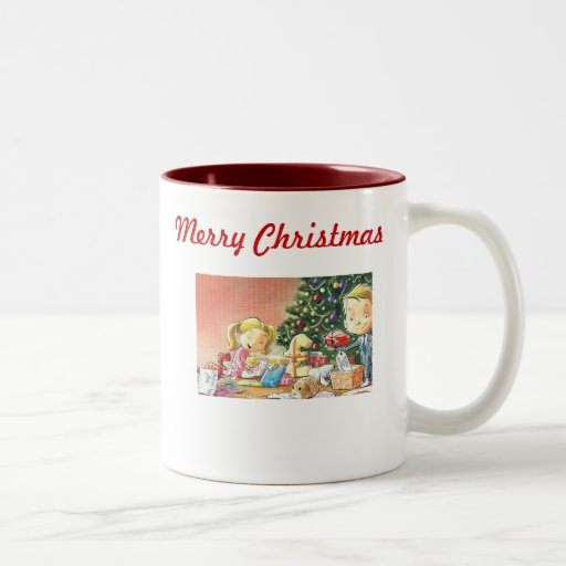 Personalized christmas coffee mugs old fashioned m zazzle for Unique christmas mugs
