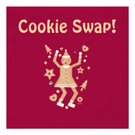 Personalized Christmas Cookie Swap Invitation