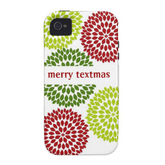 Personalized Christmas Dahlias Case Vibe iPhone 4 Cover