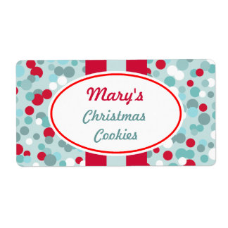 Personalized Christmas Dots Labels