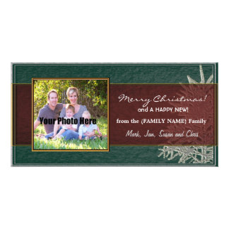 Personalized Christmas Family Photo Card - Tree
