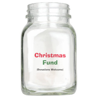 "Personalized ""Christmas Fund"" Jar"
