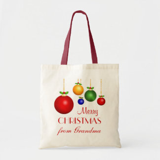 Personalized Christmas Gift Bag - Red
