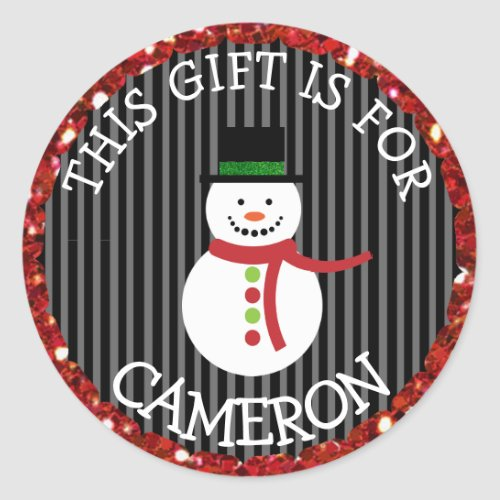 Personalized Christmas Gift Tag Holiday Stickers