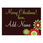 Personalized Christmas Gift Tags Business Card Templates