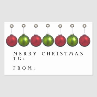Personalized Christmas gift tags Rectangular Sticker