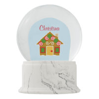 Personalized Christmas Gingerbread Snow Globe Snow Globes