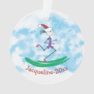 PERSONALIZED © Christmas Holiday Lady Runner Ornament