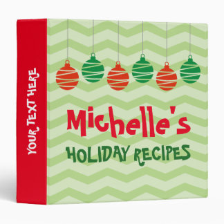 Personalized Christmas Holiday recipe binder book