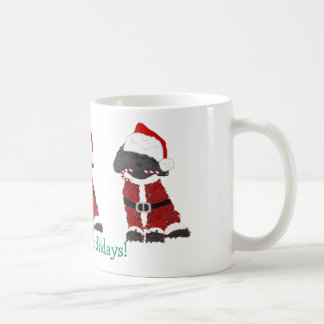 Personalized Christmas Labradoodle Santa Claus Coffee Mug