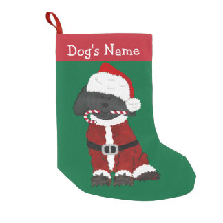Personalized Christmas Labradoodle Santa Claus Small Christmas Stocking