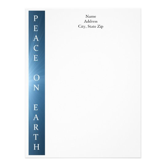 Personalized Christmas Letterhead Peace on Earth Zazzlecom