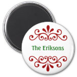 Personalized Christmas Magnet