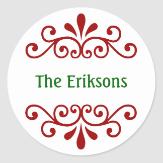Personalized Christmas Name Stickers