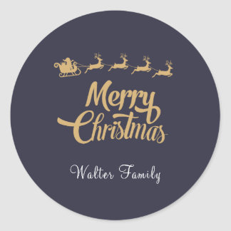 Personalized Christmas Navy Sticker