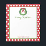 """Personalized Christmas Notepad 