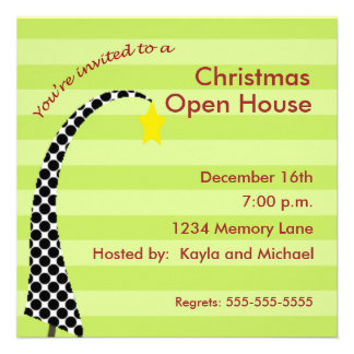 Personalized Christmas Open House Invitation