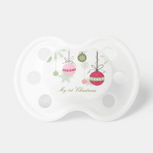 Personalized Christmas Pacifier BooginHead Pacifier