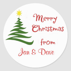 Personalized Christmas Package Gift Classic Round Sticker at Zazzle