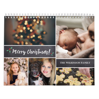 Personalized, Christmas, Photo Collage Calendar
