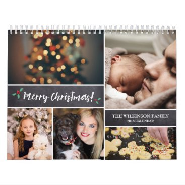 Beach Themed Personalized, Christmas, Photo Collage Calendar