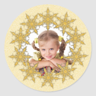 Personalized Christmas Photo Stickers Gift