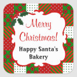 Personalized Christmas Quilt Sticker