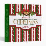 Personalized Christmas Recipe Binder