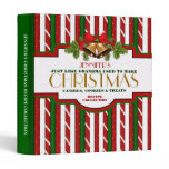 Personalized Christmas Recipe Binder