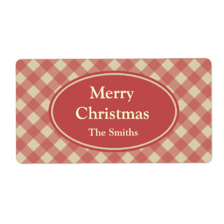 Personalized Christmas Red Holiday Labels