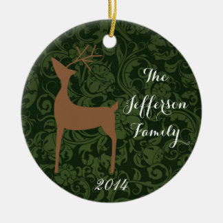 Personalized Christmas Rein Deer Family Ornament