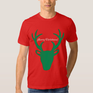 Personalized Christmas Reindeer T Shirt