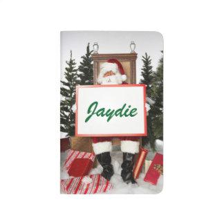 Personalized Christmas Shopping List Custom Name Journal