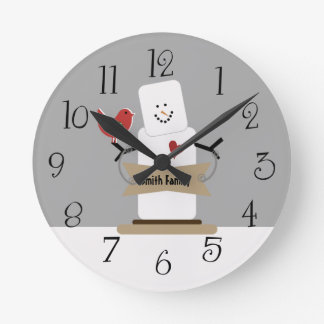 Personalized Christmas Smores Man Holiday Clock