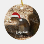 Personalized Christmas Squirrel Ornament