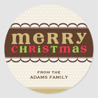 PERSONALIZED CHRISTMAS STICKER :: candyfloss 1