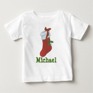 Personalized Christmas Stocking Baby T-Shirt
