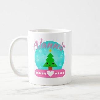 Personalized Christmas Tree And Heart Coffee Mug