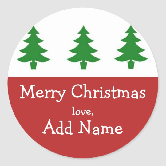 Personalized Christmas Tree Gift Sticker