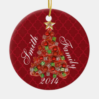 Personalized Christmas Tree Holiday Ornament